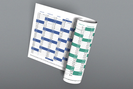 Double-Sided Calendars