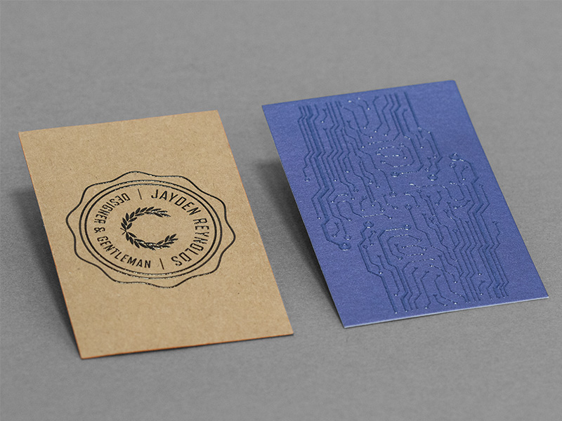 Product details Business cards with exclusive finishes 2