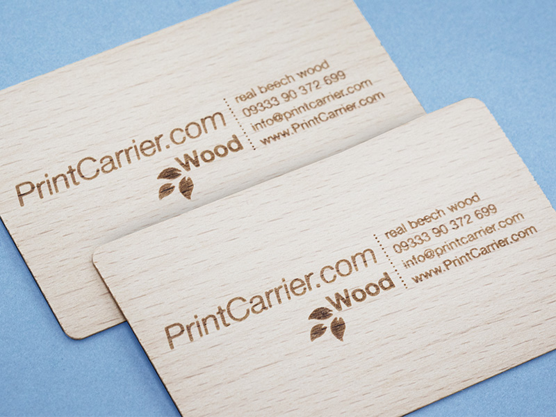 Product details Wooden Business Cards 1