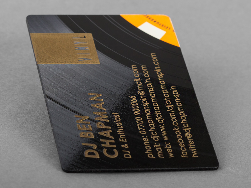 Product details Vinyl Business Cards 1