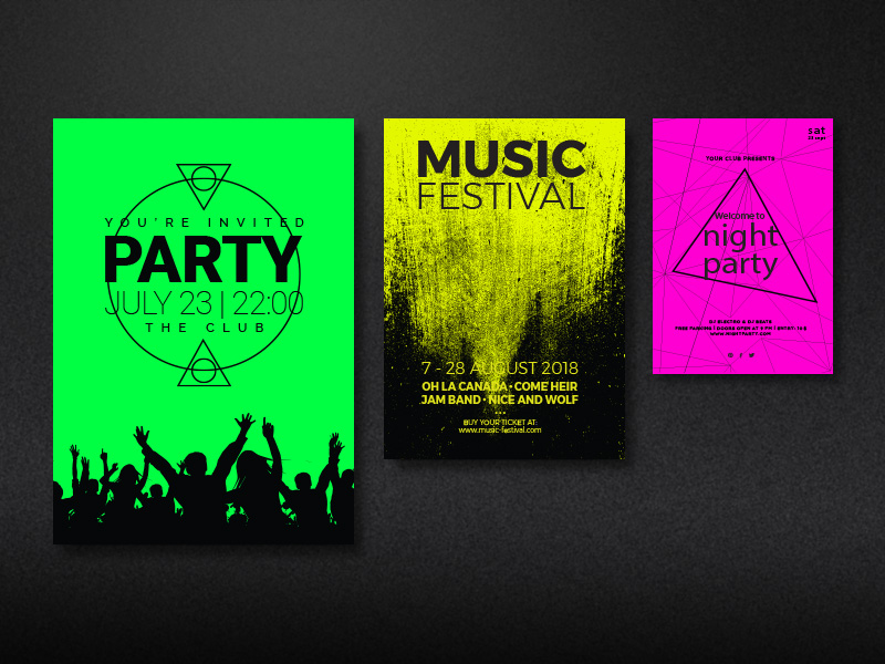 Product details Posters in neon colours 1