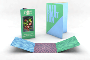 Folded Flyers - Classic Letter Fold, Roll Fold, or Barrel fold
