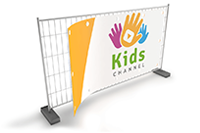 Banner for site fences, 340 x 173 cm